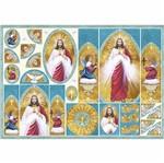 Papel Decoupage 34,3x49cm Sagrado Coração de Jesus - Oratório PD-849 - Litoarte