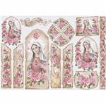 Papel Decoupage 34,3x49cm Sagrado Coração de Maria - Oratório PD-850 - Litoarte