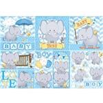 Papel Decoupage 49x34 Elefante Baby Boy PD-539N - Litoarte