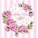 Papel Decoupage Adesiva 20X20 Flores DA20-028 - Litoarte