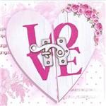 Papel Decoupage Adesiva 10x10cm Love Coração Dax-075 - Litoarte