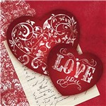 Papel Decoupage Adesiva 10x10cm Love You DAX-076 - Litoarte