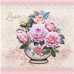 Papel Decoupage Adesiva 10x10cm Vaso de Flor DAX-065 - Litoarte