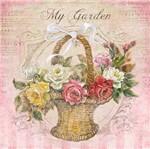 Papel Decoupage Adesiva 15x15 My Garden DAXV-060 - Litoarte