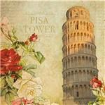 Papel Decoupage Adesiva 15x15 Pisa Tower DAXV-056 - Litoarte