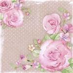 Papel Decoupage Adesiva 15x15 Rosas DAXV-052 - Litoarte