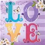 Papel Decoupage Adesiva 15x15cm Love Colorido Daxv-033 - Litoarte