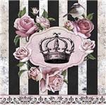 Papel Decoupage Adesiva Litoarte DA20-021 20x20cm Coroa com Rosas