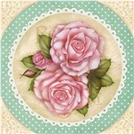 Papel Decoupage Adesiva Litoarte DA20-075 20x20cm Rosas Shabby