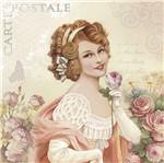 Papel Decoupage Adesiva Litoarte DA20-077 20x20cm Dama Vintage