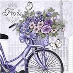 Papel Decoupage Adesiva Litoarte DAX-060 10x10cm Bicicleta com Flores