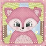 Papel Decoupage Adesiva Litoarte DAX-147 10x10cm Raposa Rosa