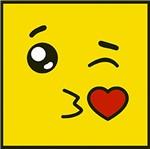 Papel Decoupage Adesiva Litoarte DAX-167 10x10cm Carinha Amarela Mandando Beijo