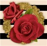 Papel Decoupage Adesiva Litoarte DAX-127 10x10cm Rosas Vermelhas