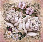 Papel Decoupage Adesiva Litoarte DAXV-022 15x15cm Flores