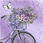 Papel Decoupage Adesiva Litoarte DAXV-020 15x15cm Bicicleta com Flores