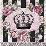 Papel Decoupage Adesiva Litoarte DAXV-021 15x15cm Rosas e Coroa