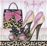 Papel Decoupage Adesiva Litoarte DAXV-019 15x15cm Sapatos com Bolsa