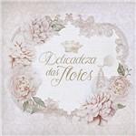 Papel Decoupage Adesiva Litoarte DAXV-034 15x15cm Rosas Silvestres e Coroa