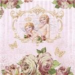 Papel Decoupage Adesiva Litoarte DAXV-048 15x15cm Rosas e Anjos
