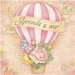 Papel Decoupage Adesiva Litoarte DAXV-083 15x15cm Balão Vintage com Flores
