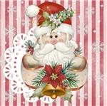 Papel Decoupage Adesiva Litoarte Natal DANX-002 10x10cm Papai Noel com Renda