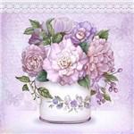 Papel Decoupage Adesivo Flores e Borboleta 20x20cm DA20-030 - Litoarte