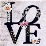 Papel Decoupage Adesivo Love 20x20cm DA20-035 - Litoarte