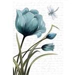 Papel Decoupage Arte Francesa Litoarte AF-306 31,1x21,1cm Tulipa Azul com Libélula