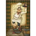 Papel Decoupage Arte Francesa Litoarte AF-307 31,1x21,1cm Cozinheiro com Vinho