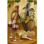 Papel Decoupage Arte Francesa Litoarte AF-211 31,1x21,1cm Vinho e Queijo