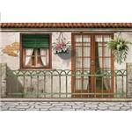 Papel Decoupage Arte Francesa Litoarte AF-314 31,1x21,1cm Fachada Italiana com Grade