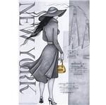 Papel Decoupage Arte Francesa Litoarte AF-225 31,1x21,1cm Dama em Preto e Branco New York