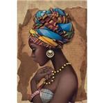 Papel Decoupage Arte Francesa Litoarte AF-286 31,1x21,1cm Africana Colar Amarelo