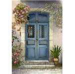 Papel Decoupage Arte Francesa Litoarte AF-299 31,1x21,1cm Porta com Flores