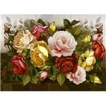 Papel Decoupage Arte Francesa Litoarte AFGG-006 45x62,5cm Rosas