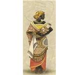 Papel Decoupage Arte Francesa Litoarte AFP-049 25x10cm Africana Segurando Vaso
