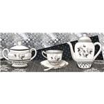 Papel Decoupage Arte Francesa Litoarte AFP-097 25x10cm Chá Preto e Branco