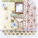 Papel Decoupage Arte Francesa Litoarte AFQ-317 21x21cm Banheiro