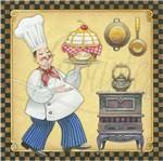 Papel Decoupage Arte Francesa Litoarte AFQ-232 21x21cm Cozinheiro
