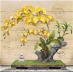 Papel Decoupage Arte Francesa Litoarte AFQ-400 21x21cm Orquídea Amarela