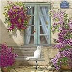 Papel Decoupage Arte Francesa Litoarte AFQ-401 21x21cm Fachada Casorio com Gato