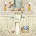 Papel Decoupage Arte Francesa Litoarte AFQ-409 21x21cm Pia com Espelho e Arandela
