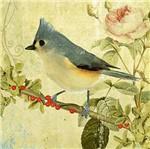Papel Decoupage Arte Francesa Litoarte AFQ-412 21x21cm Pássaro com Rosas