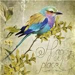 Papel Decoupage Arte Francesa Litoarte AFQ-411 21x21cm Pássaro Colorido