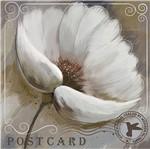 Papel Decoupage Arte Francesa Litoarte AFQ-379 21x21cm Flor Branca