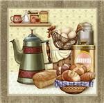 Papel Decoupage Arte Francesa Litoarte AFQ-283 21x21cm Bule Pão e Ovos