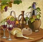 Papel Decoupage Arte Francesa Litoarte AFQ-280 21x21cm Vinhos e Queijo