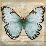 Papel Decoupage Arte Francesa Litoarte AFQ-389 21x21cm Borboleta Azul