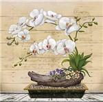 Papel Decoupage Arte Francesa Litoarte AFQ-398 21x21cm Orquídea Branca